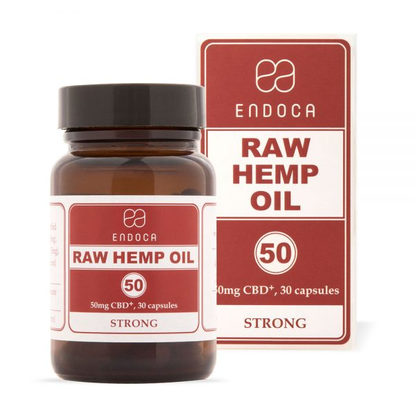 Endoca CBD Raw Hemp Oil Capsules 1500mg