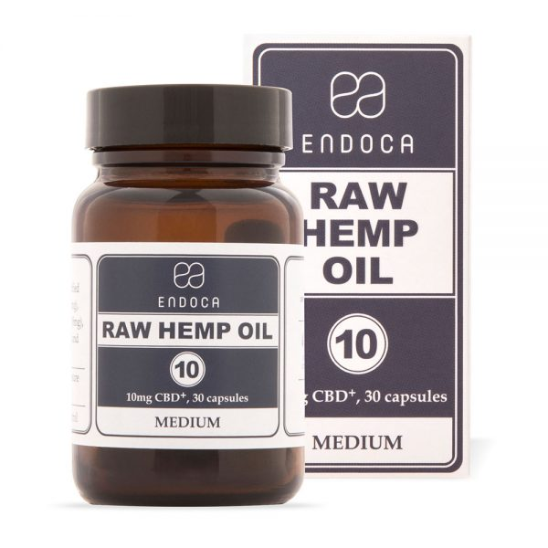 Endoca CBD Raw Hemp Oil Capsules 300mg