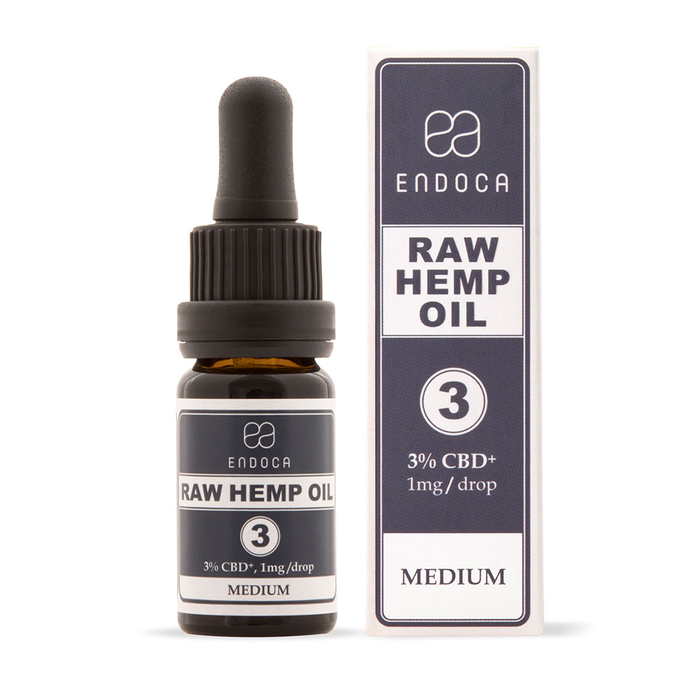 Endoca CBD Raw Hemp Oil Drops 300mg
