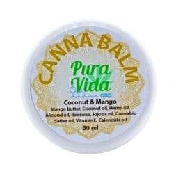Pura Vida CBD Balm Jar Coconut & Mango