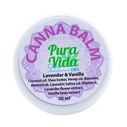 Pura Vida CBD Balm Jar Lavender & Vanilla