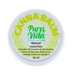 Pura Vida CBD Balm Jar Natural Scent Free