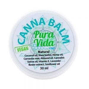Pura Vida CBD Balm Jar Natural Vegan