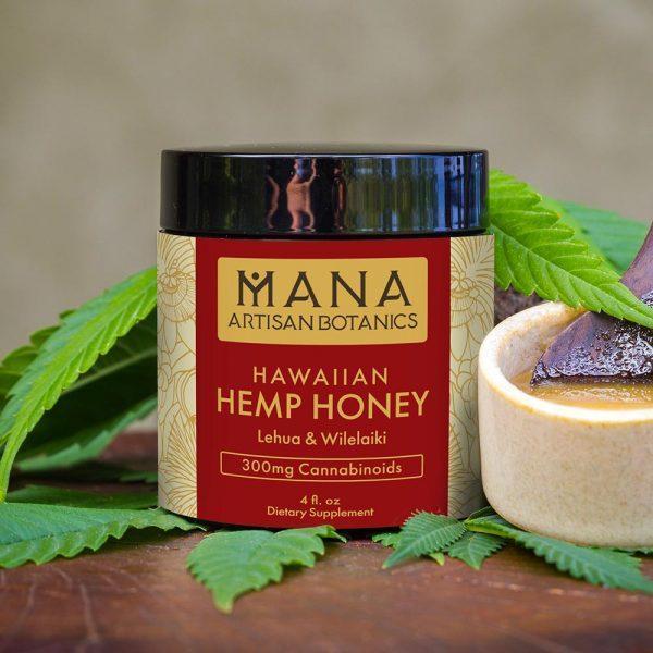Mana Artisan Botanics Lehua & Wilelaiki CBD Honey