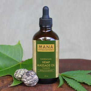 Mana Artisan Botanics Coconut CBD Massage Oil Concentrate