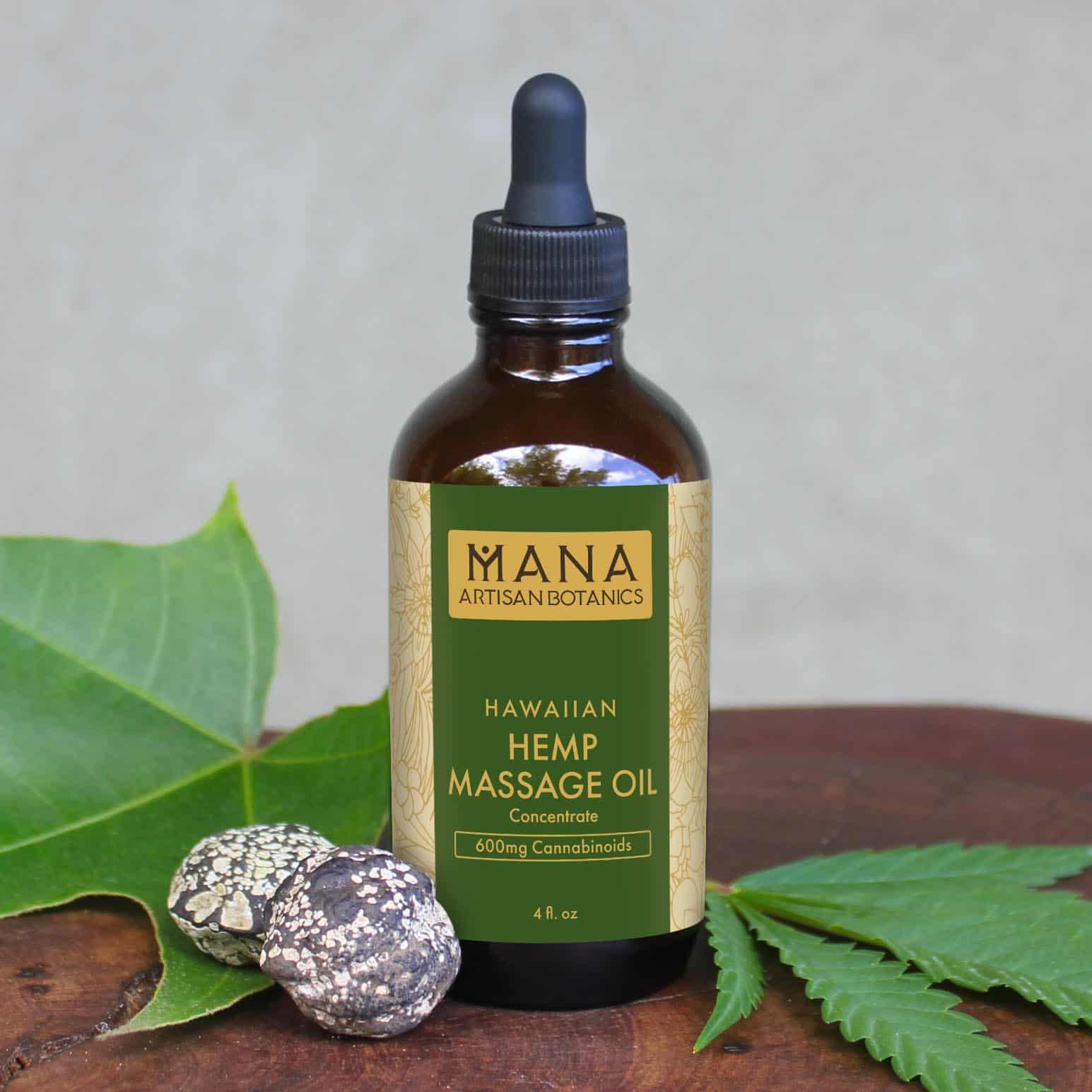 Mana Artisan Botanics Coconut CBD Massage Oil Concentrate