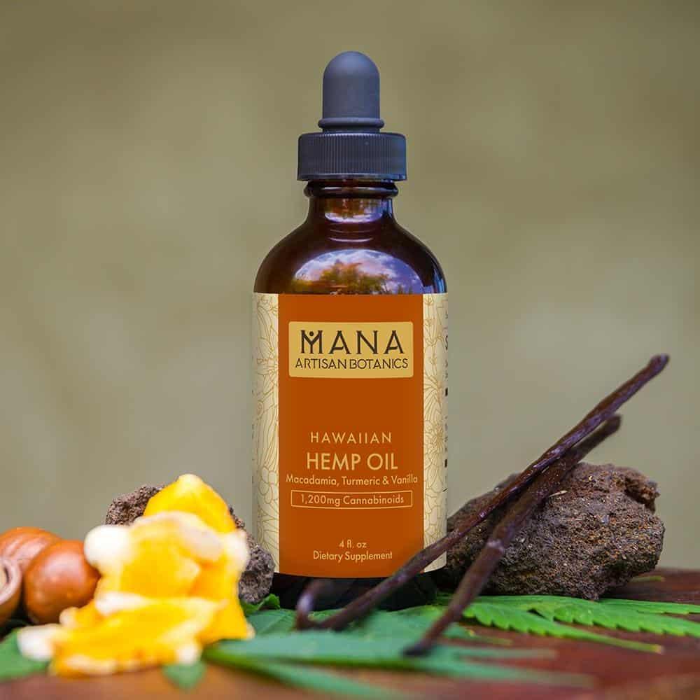 Mana Artisan Botanics Turmeric & Vanilla Macadamia Nut CBD Oil