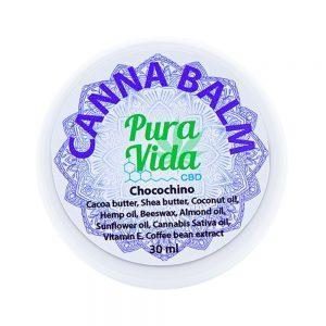 Pura Vida CBD Balm Jar Chocochino