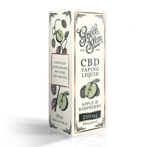 Green Stem CBD Apple & Raspberry Vape Liquid 250mg