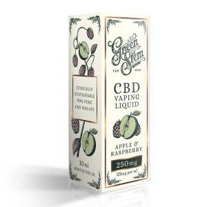Green Stem CBD Apple & Raspberry Vape Liquid 250mg