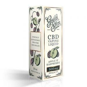 Green Stem CBD Apple & Raspberry Vape Liquid 500mg