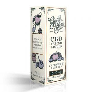 Green Stem CBD Cherries & Berries Vape Liquid 500mg