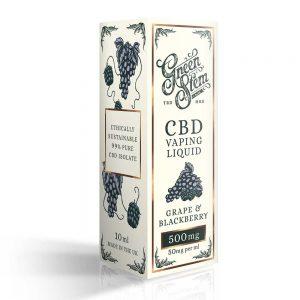 Green Stem CBD Grape & Blackberry Vape Liquid 500mg