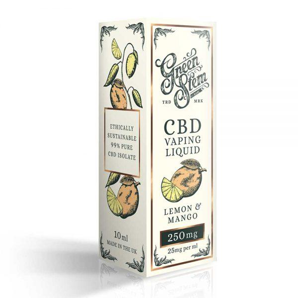 Green Stem CBD Lemon & Mango Vape Liquid 250mg