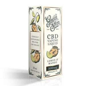 Green Stem CBD Lemon & Mango Vape Liquid 500mg