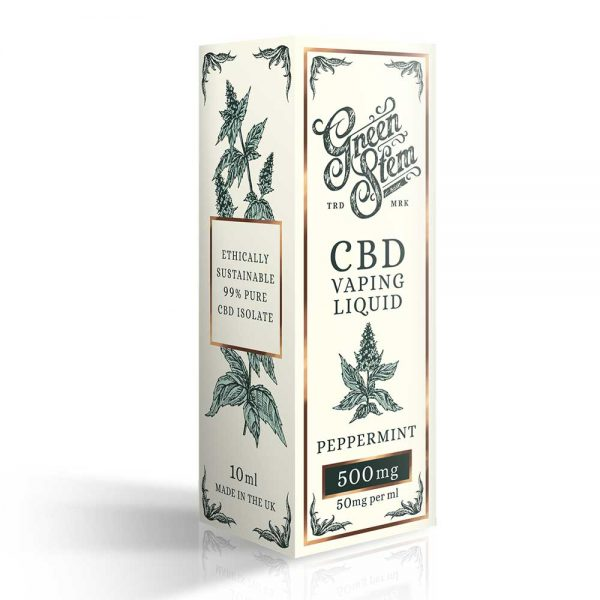 Green Stem CBD Peppermint Vape Liquid 500mg