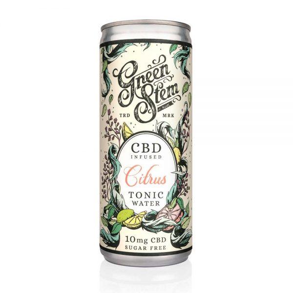 Green Stem CBD Tonic Water - Citrus