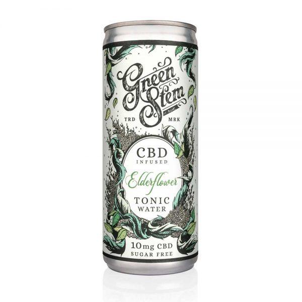 Green Stem CBD Tonic Water - Elderflower