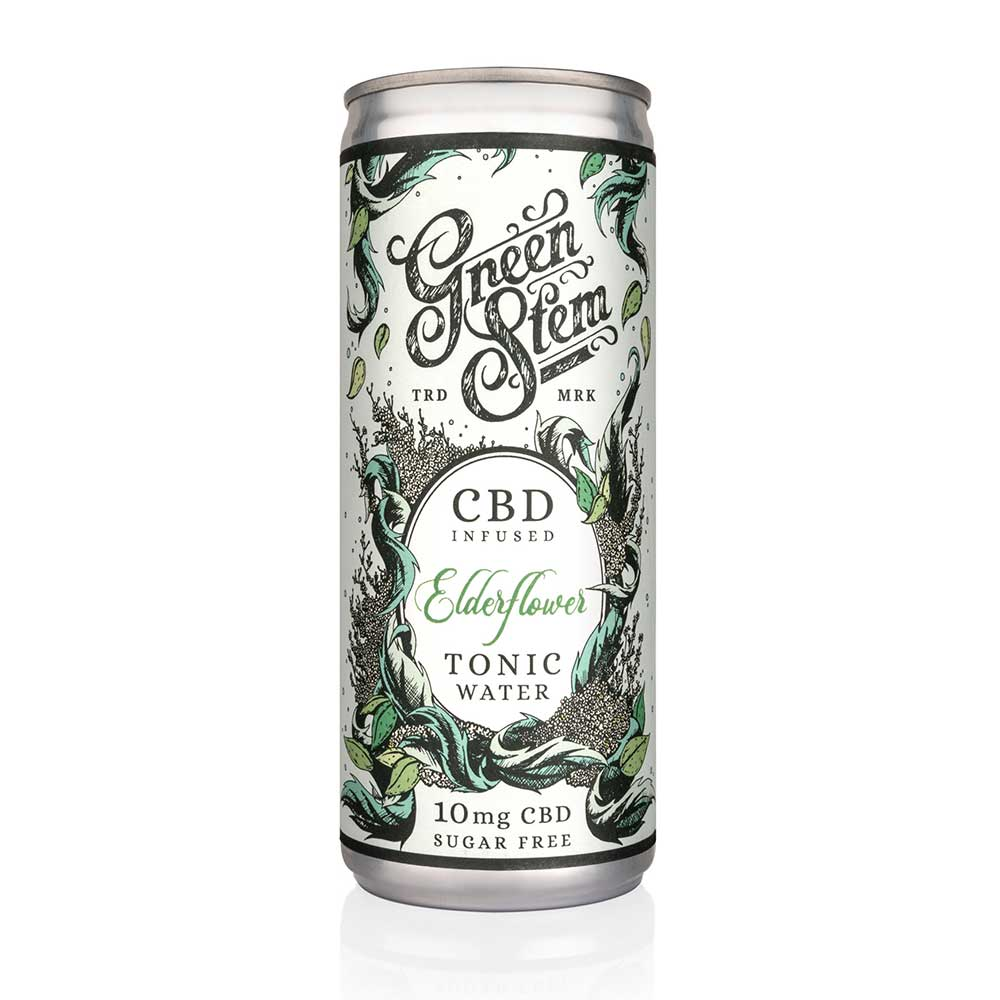 Green Stem CBD Tonic Water - Elderflower