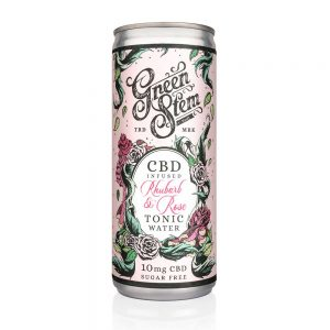 Green Stem CBD Tonic Water - Rhubarb & Rose