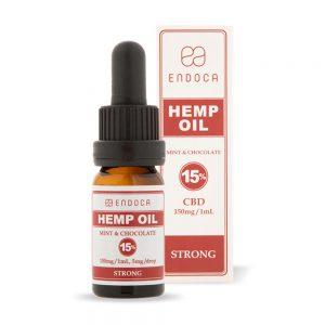 Endoca CBD Mint Chocolate Oil Drops THC Free 1500mg