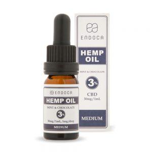 Endoca CBD Mint Chocolate Oil Drops THC Free 300mg