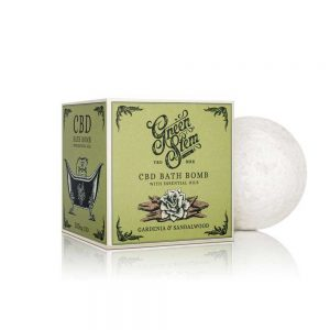 Green Stem CBD Bath Bomb Gardenia & Sandalwood
